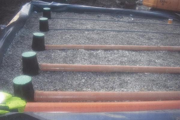 Supervised Pipe Sand Filter foundation